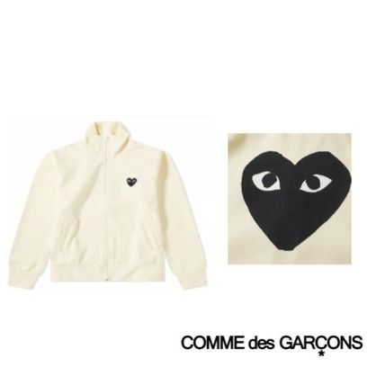 Comme des Garcons Play Black Heart Zip Backprint Hoody Ivory