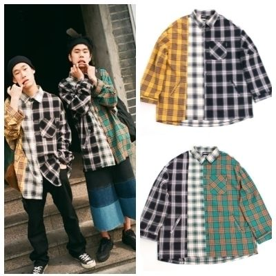 AJO AJOBYAJO シャツ 日本未入荷AJO AJOBYAJOのOver Check Color Mixed Shirt 全2色