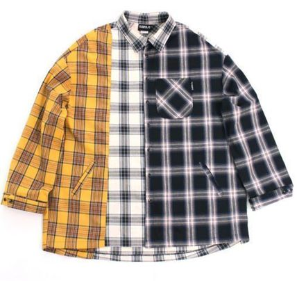 AJO AJOBYAJO シャツ 日本未入荷AJO AJOBYAJOのOver Check Color Mixed Shirt 全2色(2)