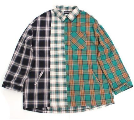 AJO AJOBYAJO シャツ 日本未入荷AJO AJOBYAJOのOver Check Color Mixed Shirt 全2色(9)