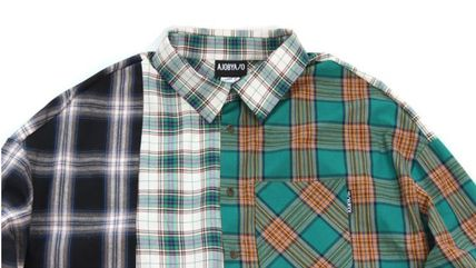 AJO AJOBYAJO シャツ 日本未入荷AJO AJOBYAJOのOver Check Color Mixed Shirt 全2色(10)