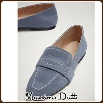 MassimoDutti♪BLUE SOFT SPLIT SUEDE LEATHER LOAFERS