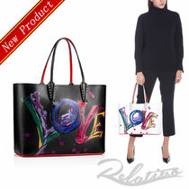 """★18AW★【Louboutin】Cabata """"LOVE""""プリント トートバッグ/2色"""