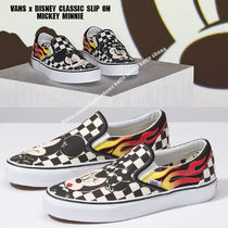 VANS x DISNEY CLASSIC SLIP ON★コレクション★CHECKER FLAME