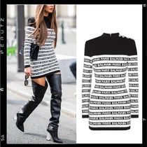 【BALMAIN】Logo knit mini dress