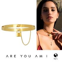 ARE YOU AM I(アーユーアムアイ) ネックレス・ペンダント 【ARE YOU AM I】LILAH ゴールド パドロック チョーカー*関送込