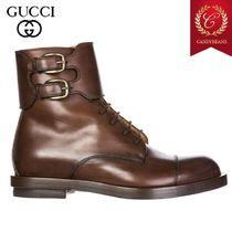 ◆SALE! GUCCI グッチ ankle boots ベルトアンクルブーツ Brown