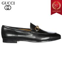 ◆FW2018 GUCCI グッチ Loafers moccasins 知的レザーローファー
