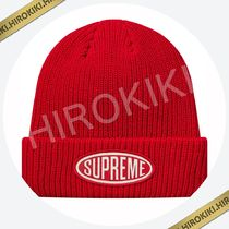 18AW  Supreme Oval Patch Beanie オーバル パッチ ニット帽 赤 3ae88d451502