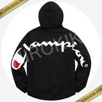 Lサイズ /Supreme Champion Hooded Sweatshirt チャンピオン 黒