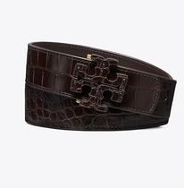 Tory Burch EMBOSSED STACKED T-LOGO BELT