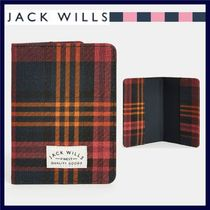 UK発★Jack Wills★WHITBY パスポートケース PINK CHECK