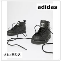 【adidas】Originals Superstar Boot Luxe Trainers レザー 黒♪