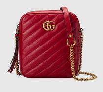 18AW【GUCCI 】GG Marmont mini shoulder bag マテラッセ レッド