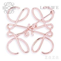 LOEWE★ロエベ Anagram Brooch Rose Gold