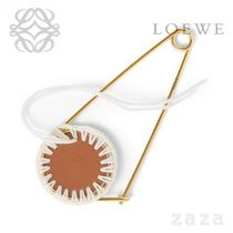 LOEWE★ロエベ Macrame Meccano Pin Tan/White