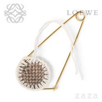 LOEWE★ロエベ Macrame Meccano Pin Natural/Black