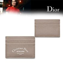 【DIOR HOMME】VEAU GRAINE GREIGE カードケース