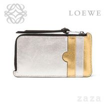 LOEWE★ロエベ Rainbow Coin/Card Holder Gold/Silver