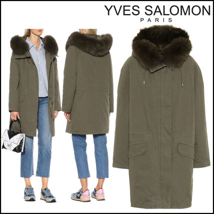 YVES SALOMON ARMY★Fur-trimmed cotton parka coat