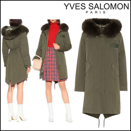 YVES SALOMON Army(イヴサロモン)★Fur-trimmed cotton anorak