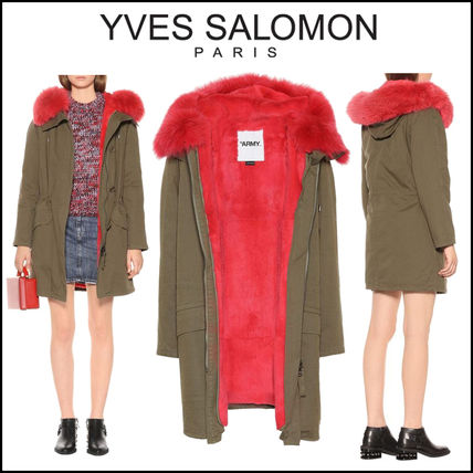 YVES SALOMON Army(イヴサロモンA)★Fur-trimmed cotton coat