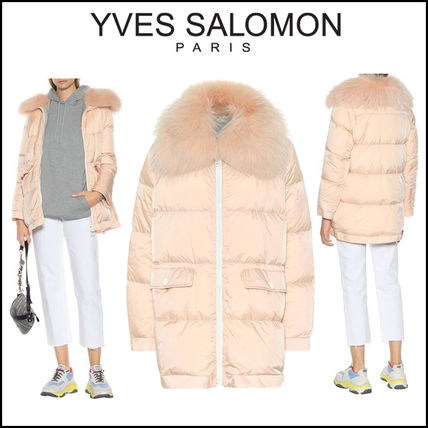 YVES SALOMON ARMY(イヴサロモン)★Fur-trimmed puffer coat