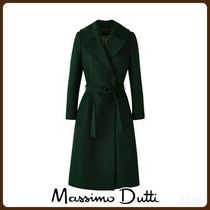 MassimoDutti♪WOOL COAT WITH BELT DETAIL