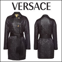 VERSACE(ヴェルサーチ)★Embossed Coat with Silk Lining