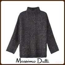 MassimoDutti♪SHIMMER CHECK TEXTURED SWEATER