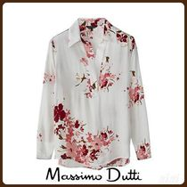 MassimoDutti♪FLORAL PRINT SHIRT WITH CONTRAST PIPING