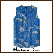 MassimoDutti♪FLORAL PRINT GATHERED BLOUSE