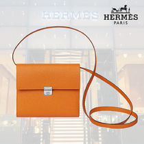 【18AW】HERMES/エルメス  Portefeuille Clic 16 abricot