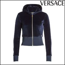 VERSACE(ヴェルサーチ)★Zipped Velvet Jacket with Hood
