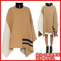 [Chloe]Wool Blend Cape Coat Color Block ポンチョ 関税/送料込