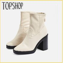 ★TOPSHOP★HIGHLAND Leather Ankle Boots☆ホワイトブーツ☆