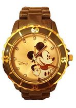 ディズニー Disney Women's MCK2190 Brown Plastic Quartz Watch