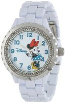 女性用腕時計Disney Women's W000500 Minnie Mouse Enamel Spark