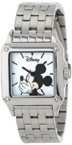 女性用腕時計Disney Women's W000858 Square Steel Mickey Mouse
