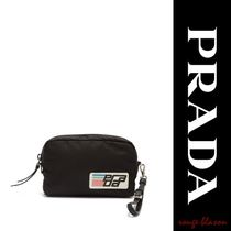 【国内発送】PRADA Logo-patch make-up bag