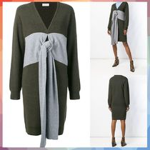 【送料・関税等込み】panelled tie jumper dress