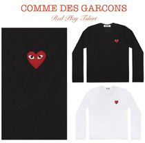 【Comme des Garcons】PLAY Redハート長袖Tシャツ☆関税・送料込