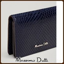MassimoDutti♪SNAKESKIN-EFFECT LEATHER CARD HOLDER