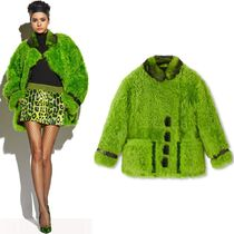 18-19AW TF076 LAMB LEATHER TRIMMED SHEEP FUR COAT