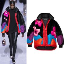 18-19AW TF078 LOOK5 MULTICOLOR FAUX FUR PUFFER JACKET