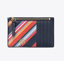 Tory Burch ROBINSON STRIPED SLIM CARD CASE