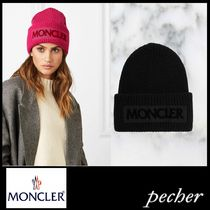 【MONCLER】Flocked  ribbed wool beanie