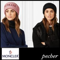 【MONCLER】Flocked  ribbed wool headband