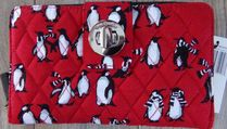 Turn Lock Wallet in Playful Penguins Red   / 日本未入荷!