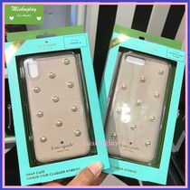 【kate spade】上品パール★pearl applique iPhone7/8 Plus or X